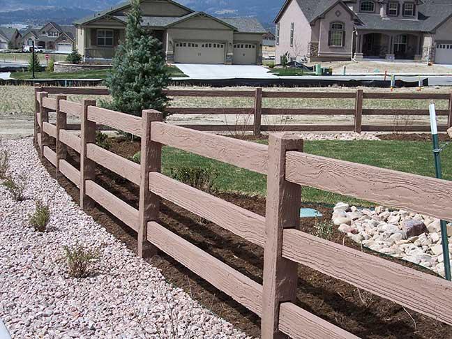 Concrete Fencing Ranch 3 Rail Fence
